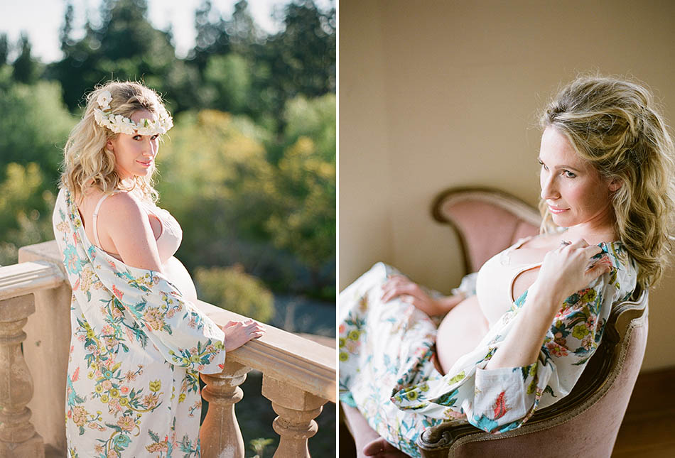 Styled maternity photography session in California