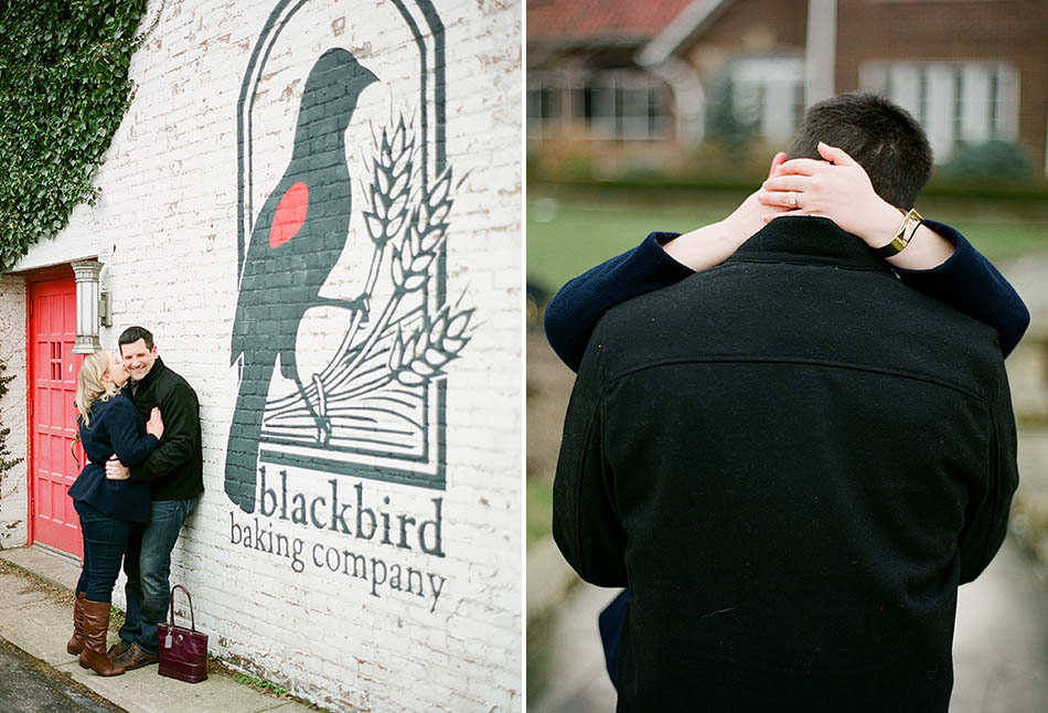 A winter engagement session in Lakewood, Ohio with Courtney and Bil