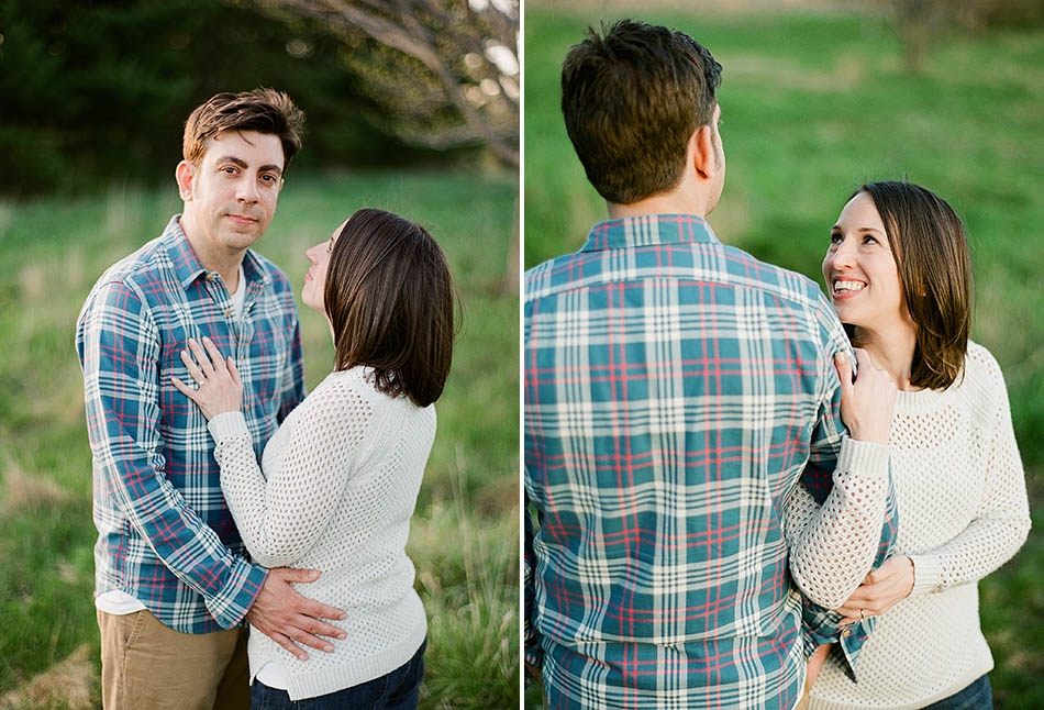 A spring engagement session at Holden Arboretum with Michelle and Adam