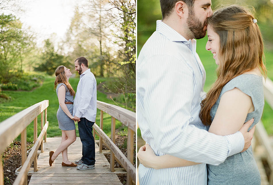 A sunset engagement session at Holden Arboretum with Erica and Seth
