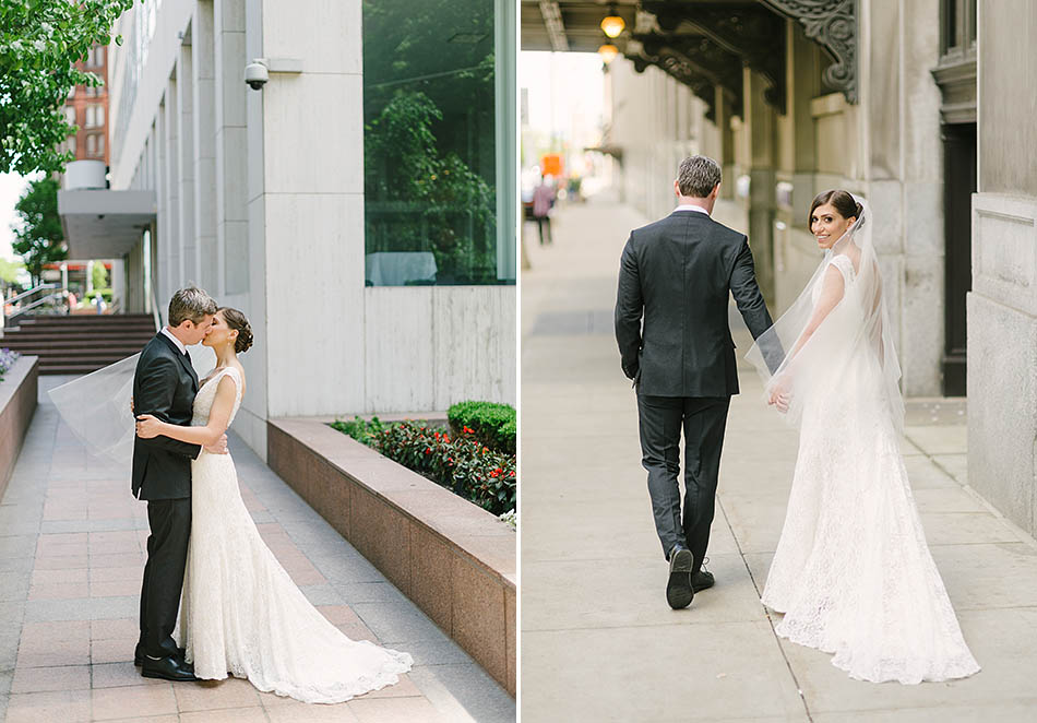 Downtown Cleveland wedding at Night Town with Robin and Josh