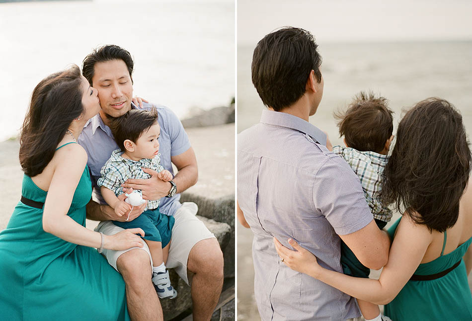 A summer family portrait session at Huntington Beach in Bay Village with Michelle, Amir and Michael.