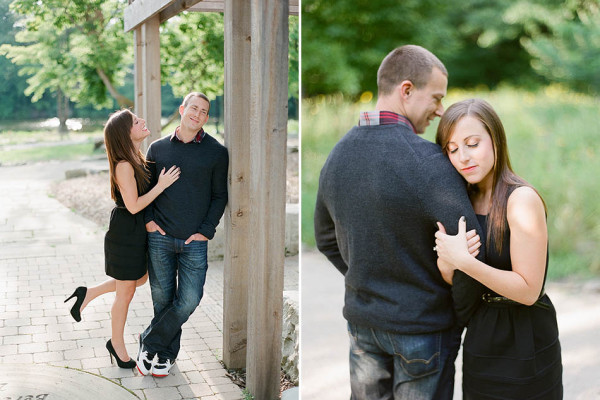 Sarah & Kyle - An Evening Engagement Session by the Lakes