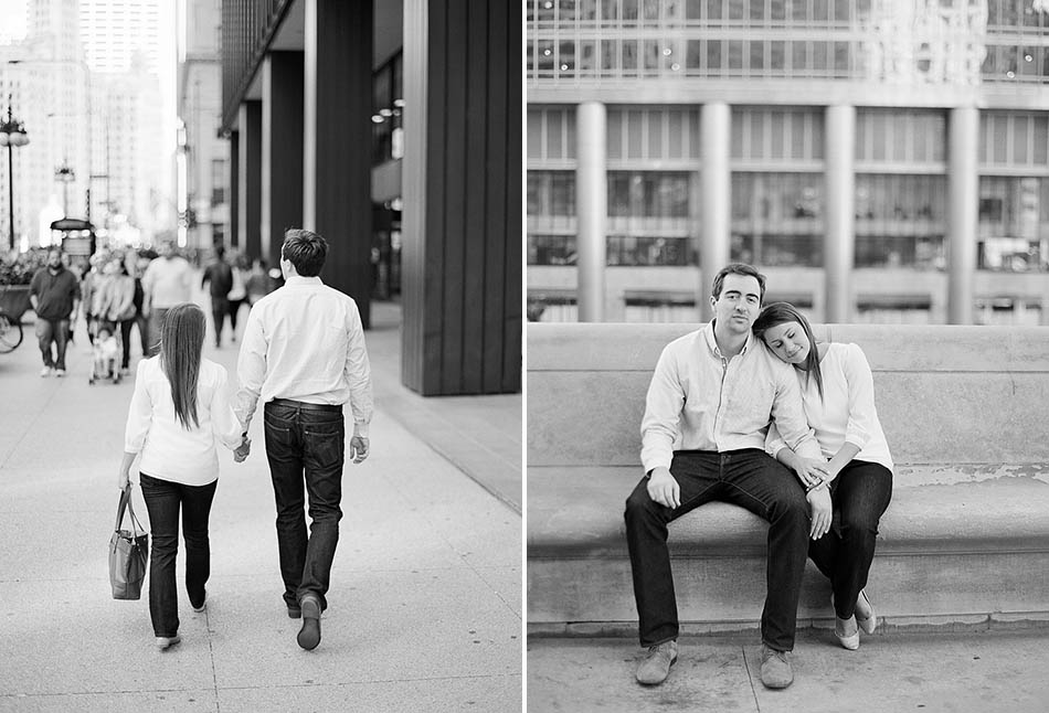 A downtown Chicago engagement session with Annie and Kevin