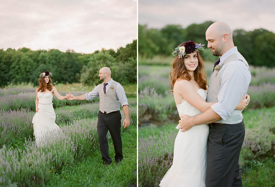 Lavender and Sage themed elopement photography by Cleveland wedding photographer Hunter Photographic