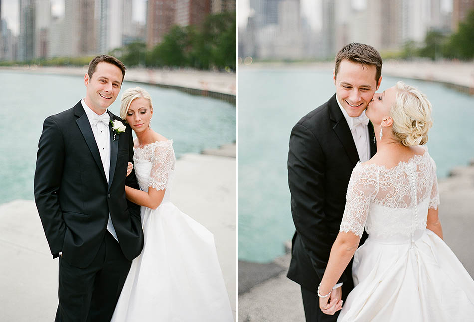 A St. Vincent DePaul Cathedral and Chicago History Museum wedding captured on film