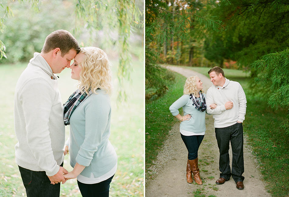 Autumn engagement session at Holden Arboretum with Katie and Joe