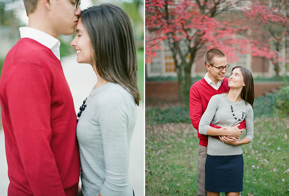 A John Carroll University engagement session with Katie and Andy
