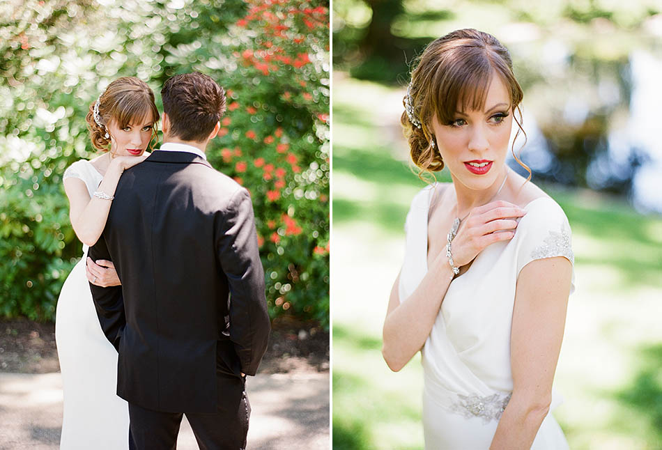 Art Deco styled wedding at Holden Arboretum's Lantern Court.