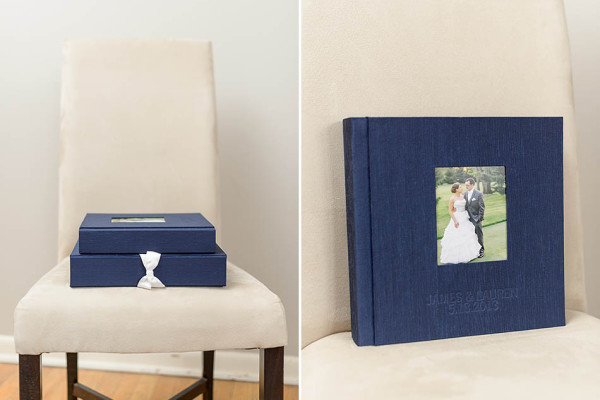 Rich Navy Heirloom Wedding Album for Lauren & James