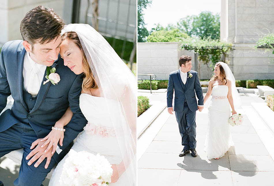 A summer Cleveland Cultural Gardens wedding captured on film by Hunter Photographic