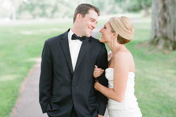 Plum Brook Country Club Wedding in Champagne and Black