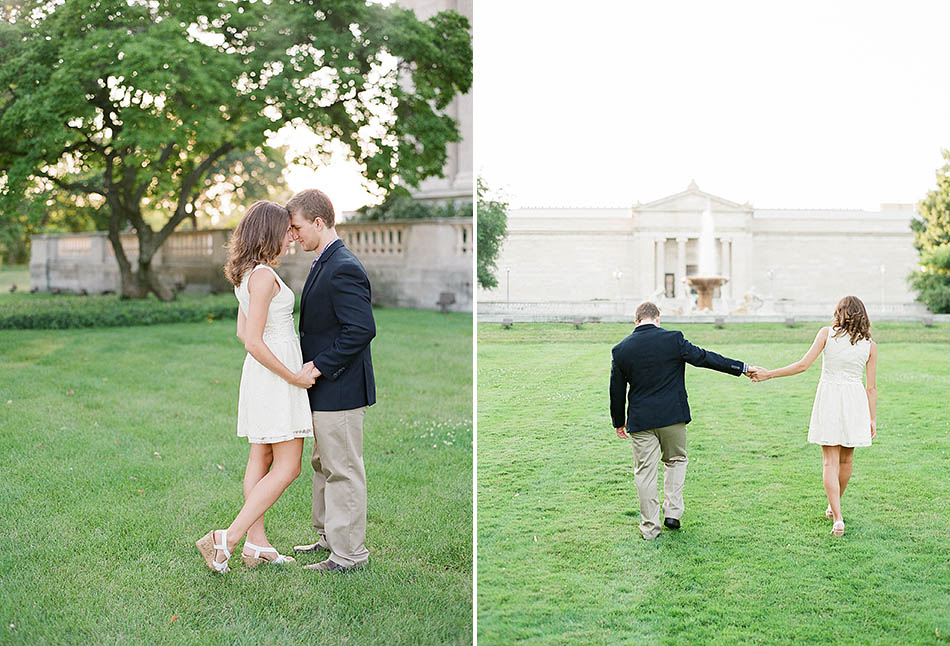 A University Circle engagement session with Brittany and Tony.