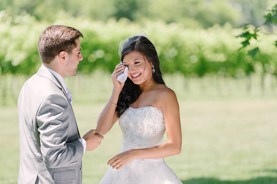 a sunny summer Gervasi Vineyard wedding in Canton, Ohio captured on film by Cleveland wedding photographer Hunter Photographic