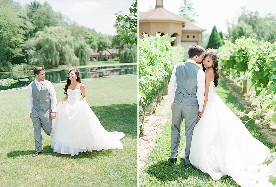 gervasi vineyard wedding and first look lauren ben