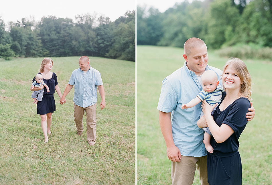 A summer family session in Granville with Kyra and Nick at their home.