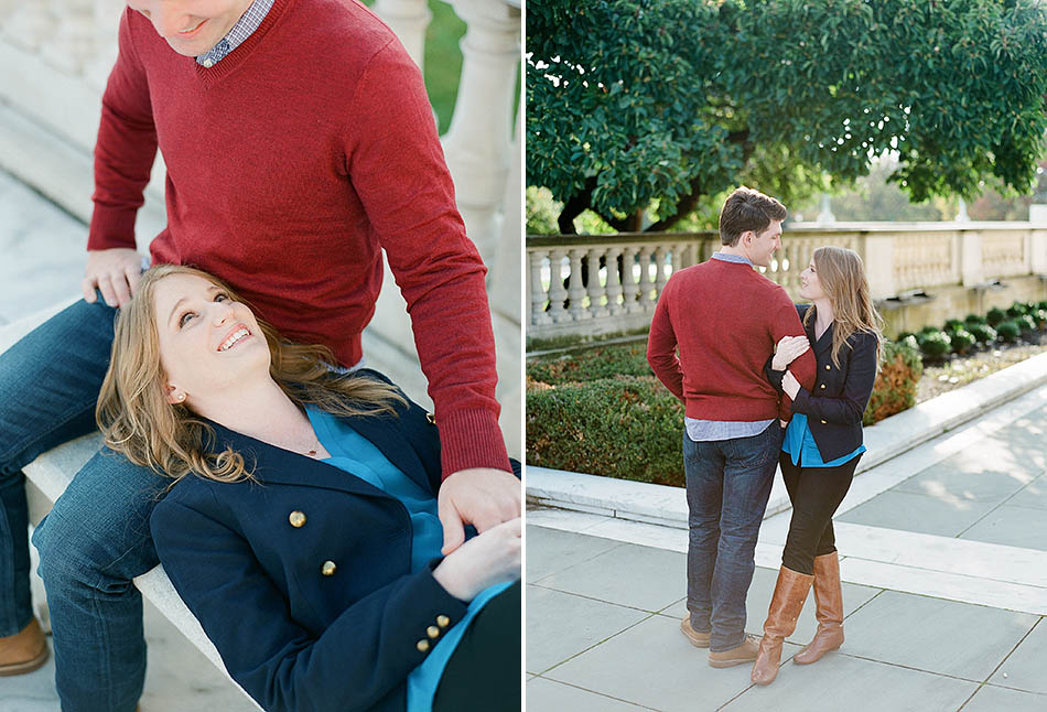 Cleveland engagement photography at the Museum of Art and Huntington Beach with Katie and Jeff.