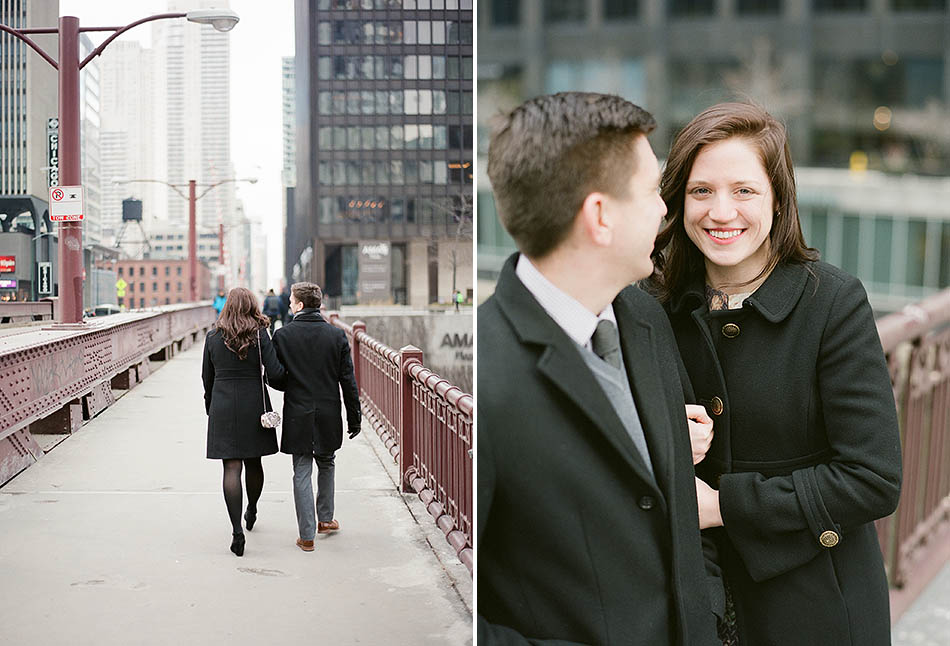 A winter Chicago engagement session with Katie and Brian