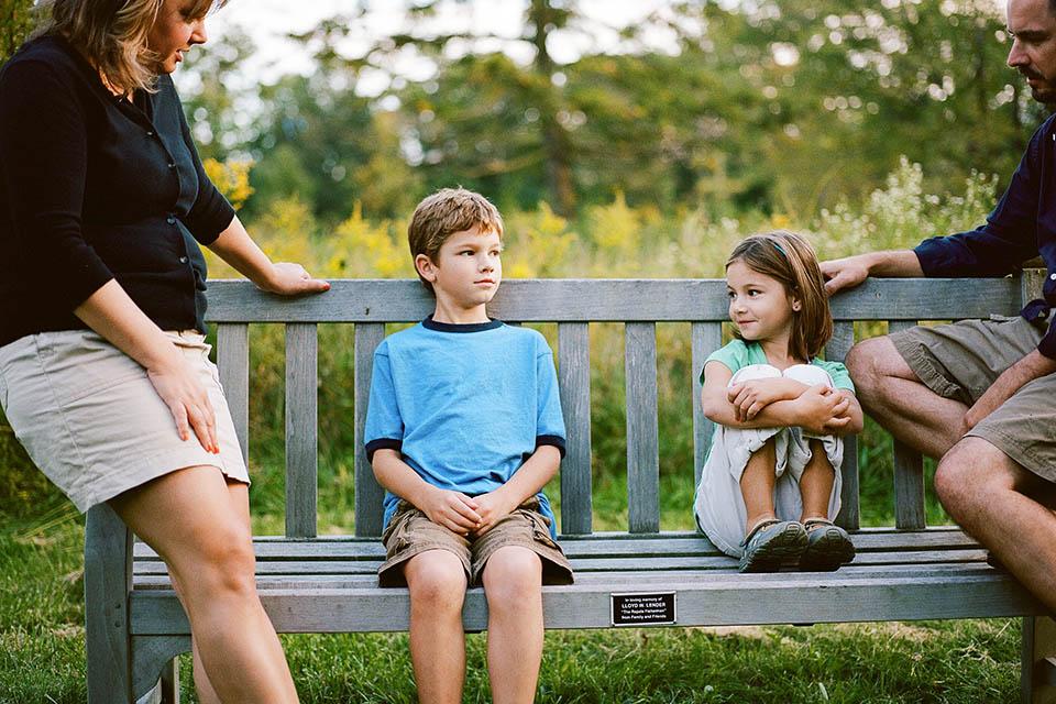 family nuditsts with kids photography portfolio idea