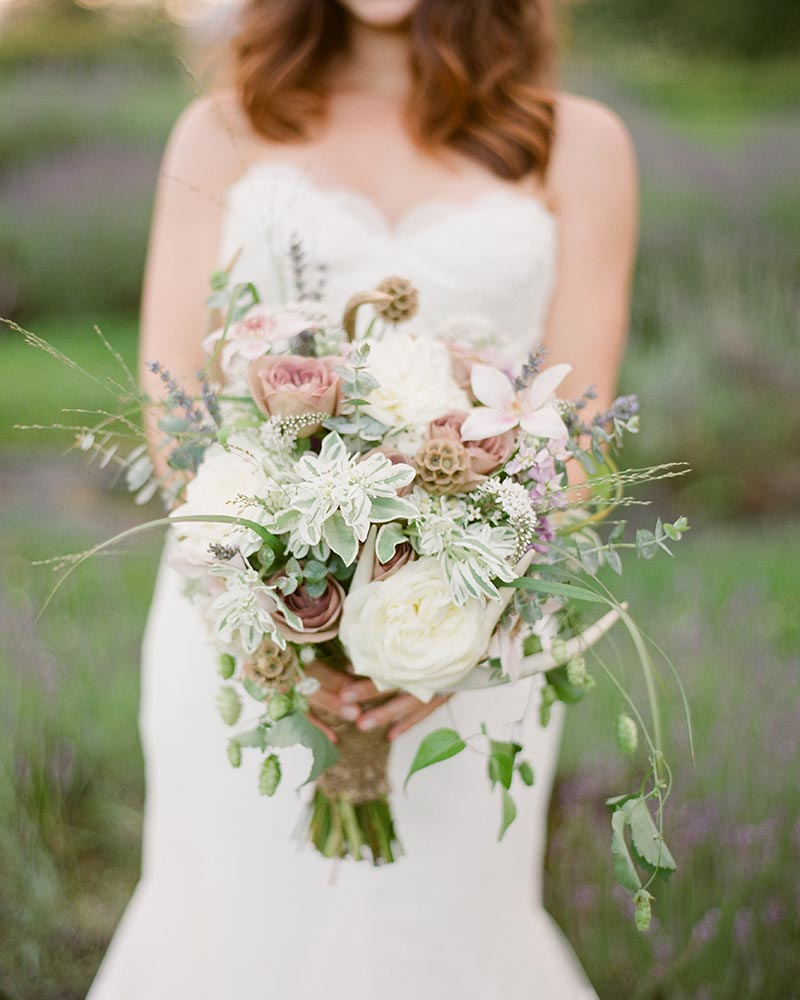 Lavender and Sage styled elopement by Cleveland wedding photographer Hunter Photographic