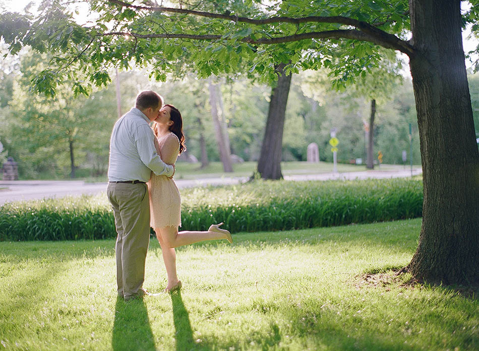 Cleveland engagement photography at the Cultural Gardens with Clare & Kyle