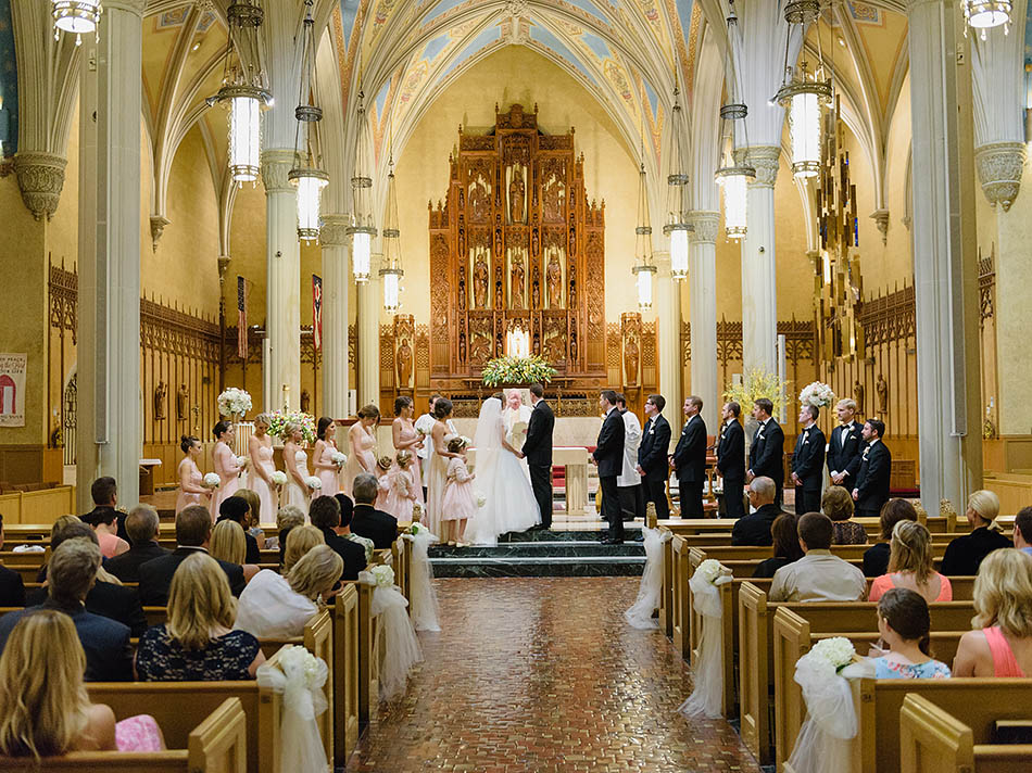 Cleveland wedding photography at St. John's Church