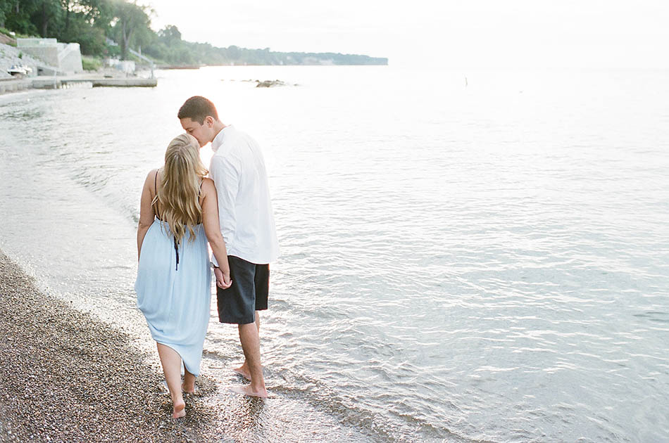 Cleveland engagement photography with Sami and John