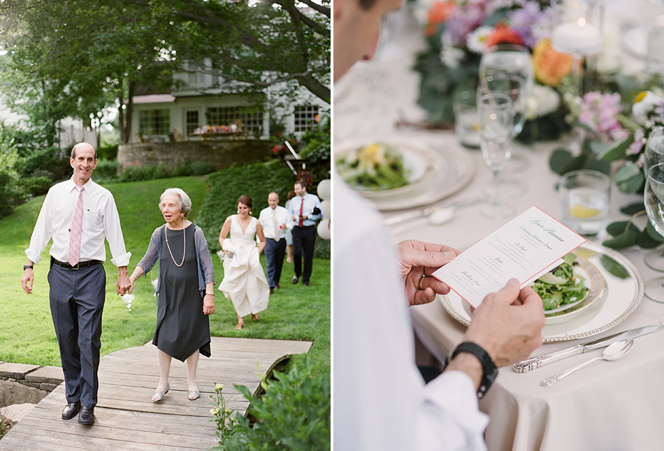Backyard wedding reception in Shaker Heights, Ohio captured on film