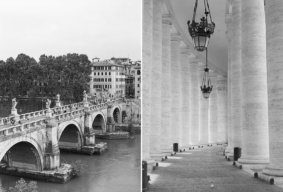Europe travel photography from Rome, Italy captured in film