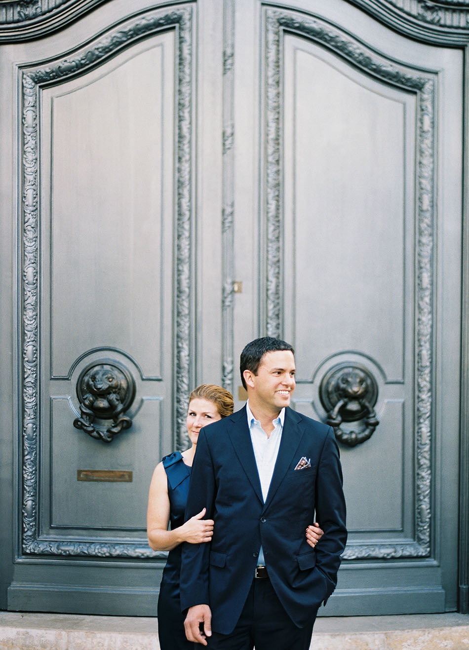 A Paris anniversary couples session captured on film by Ashley Kelemen