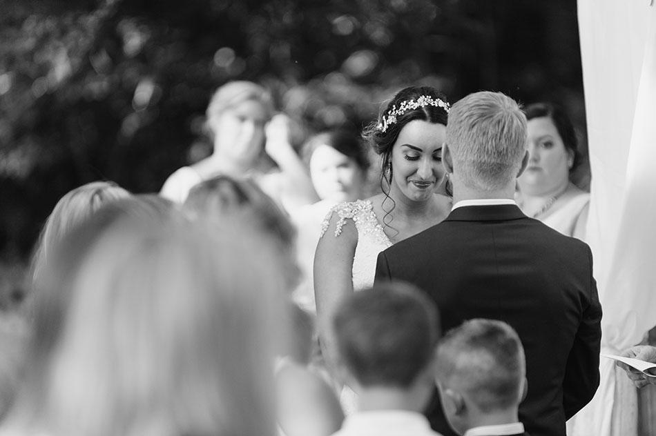 Nazareth Hall wedding photography in Delta, Ohio by Cleveland wedding photographer Hunter Photographic