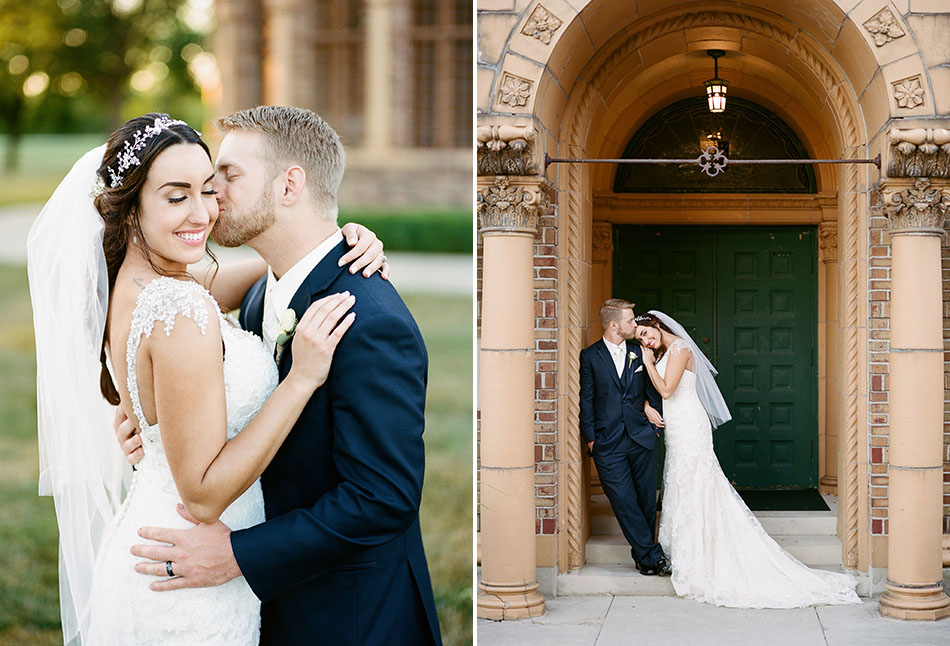 Nazareth Hall wedding photography in Delta, Ohio by Cleveland wedding photographer Hunter Photographic