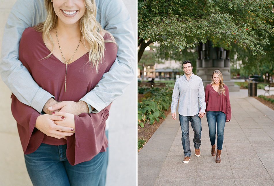 Downtown Columbus engagement photos with Laura and Dan