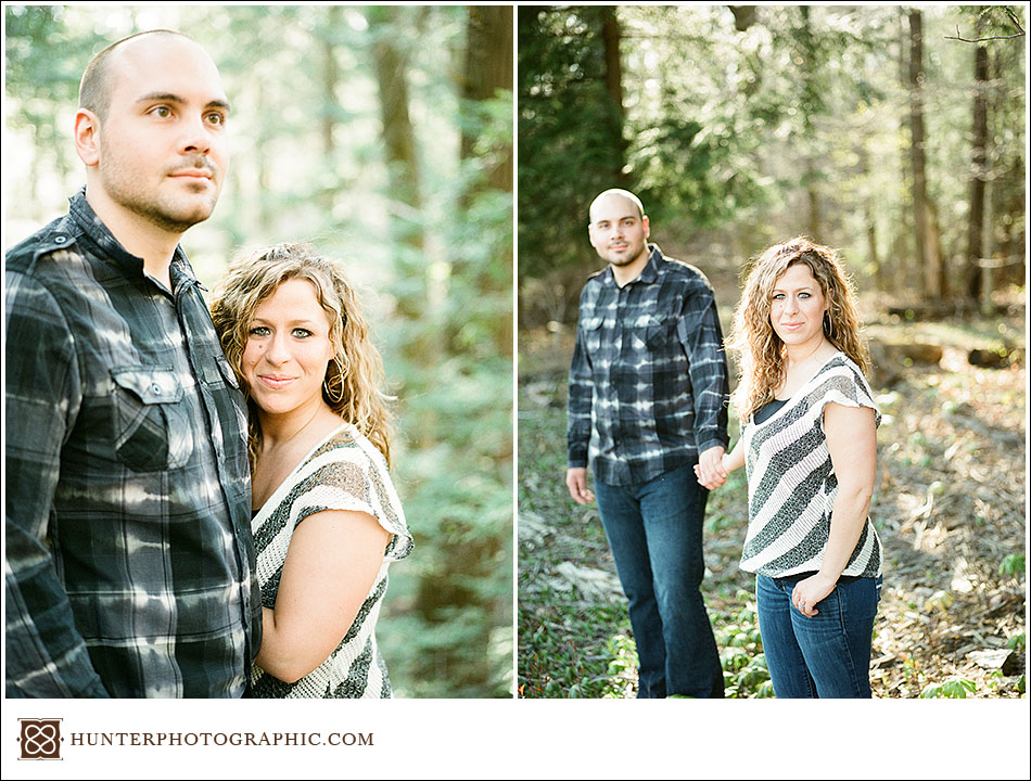 Alicia and Drew - evening sunset engagement session in Kingsville, Ohio