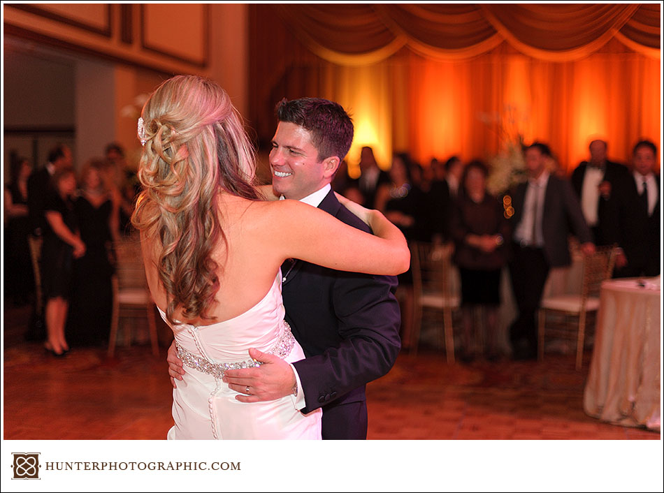 Alli and Dan's stylish autumn wedding in downtown Cleveland