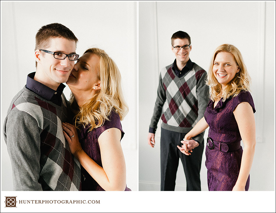 Carolyn and Dan's engagement session in downtown Cleveland
