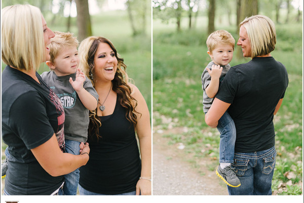 Summer Family Portraits in Downtown Cleveland