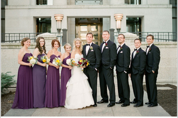 Alexis & Joe - A Columbus Athletic Club Wedding of Gold and Purple