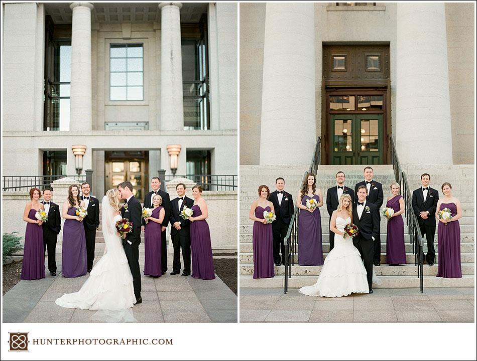 Columbus Athletic Club wedding by Hunter Photographic, a Columbus wedding photographer.