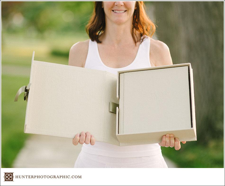 molly dave a custom heirloom wedding album presentation box