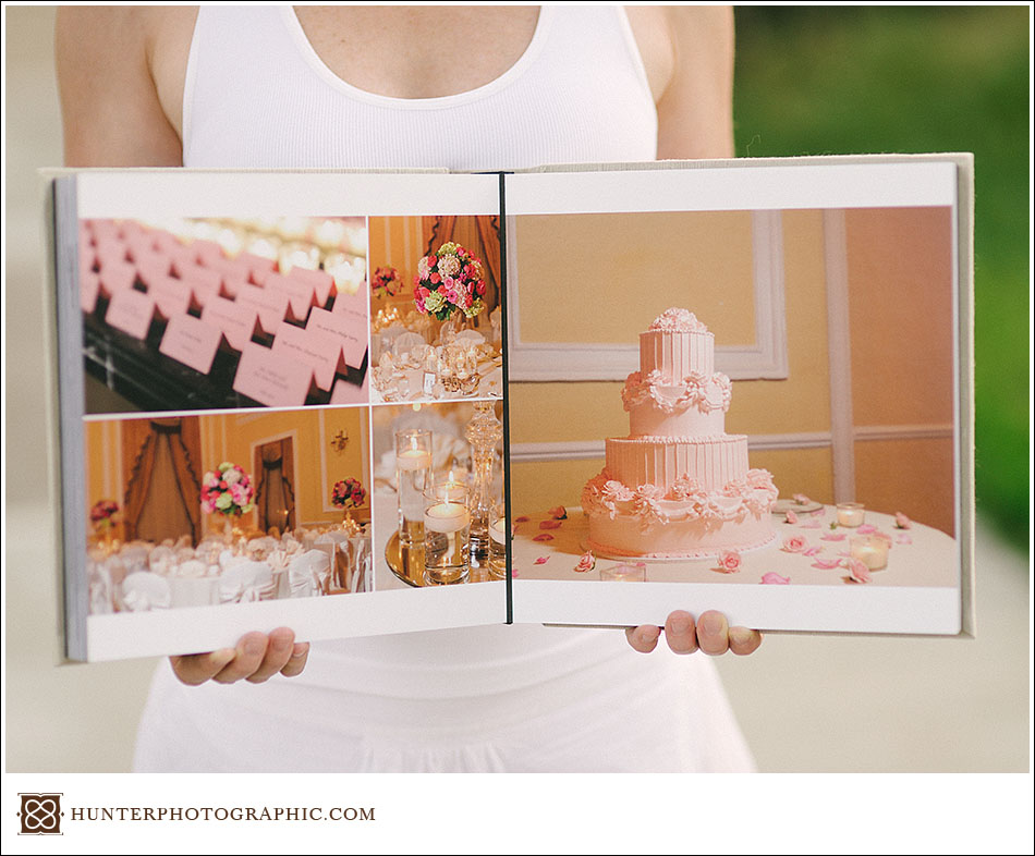 molly and daves custom heirloom wedding album and proof presentation box
