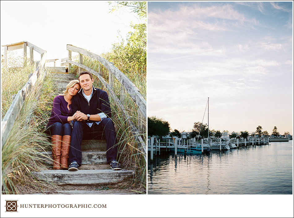 Destination engagement session in New Buffalo, Michigan for Kristin and Max