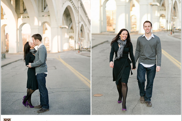 Didi & Henry - A Golden Winter Engagement in Downtown Cleveland