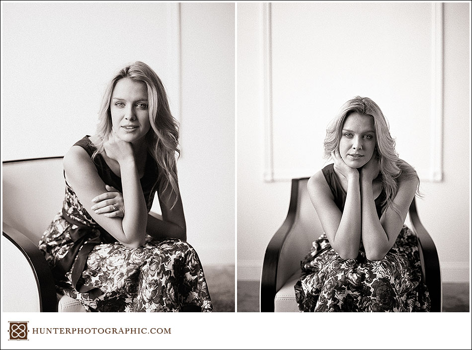 Elise's senior high school portraits captured by Hunter Photographic, a Cleveland portrait photographer