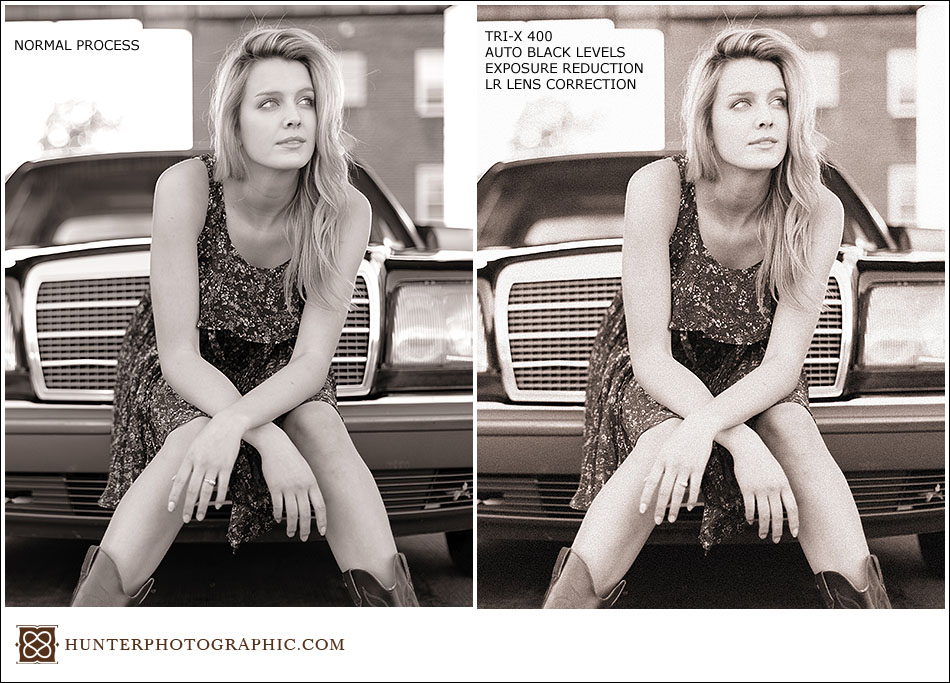 VSCO film sample images with before and after from Hunter Photographic