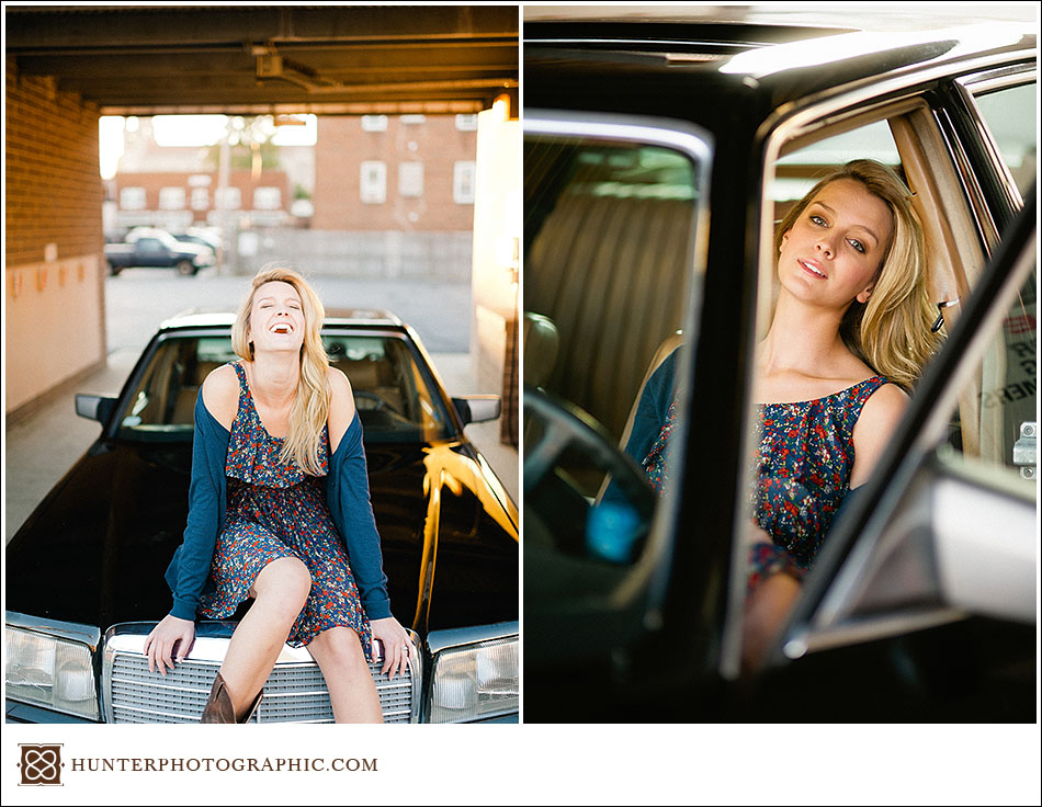 High school senior portraits for Elise in Lakewood and Cleveland