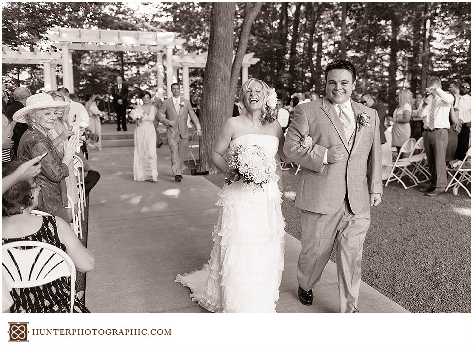 Jessica and Bobby's evening wedding at Manakiki Golf Club in Willoughby Hills