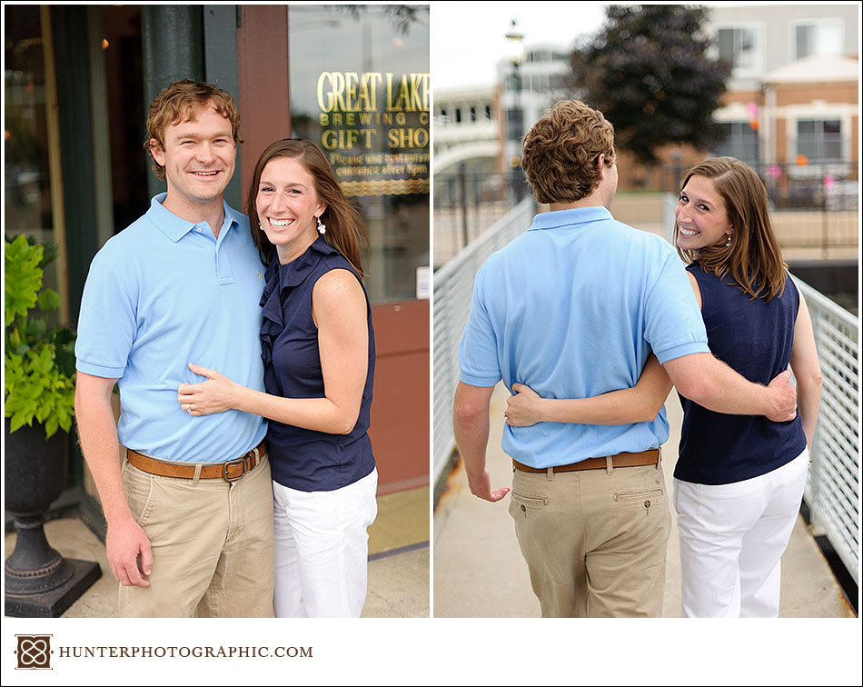 Molly and Zac's simple summer engagement in downtown Cleveland