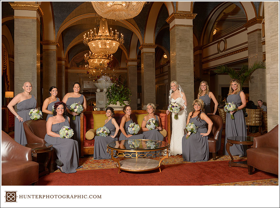 Sarah And Mike S Winter Wonderland Wedding At The Cleveland Renaissance Hotel