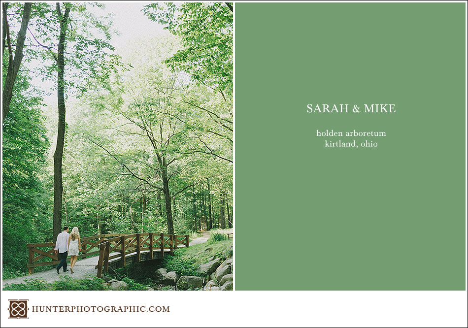 Sarah and Mike's engagement session at Holden Arboretum and Chagrin Falls